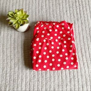 💕LuLaRoe • OS Pink & White Polka Dot Leggings